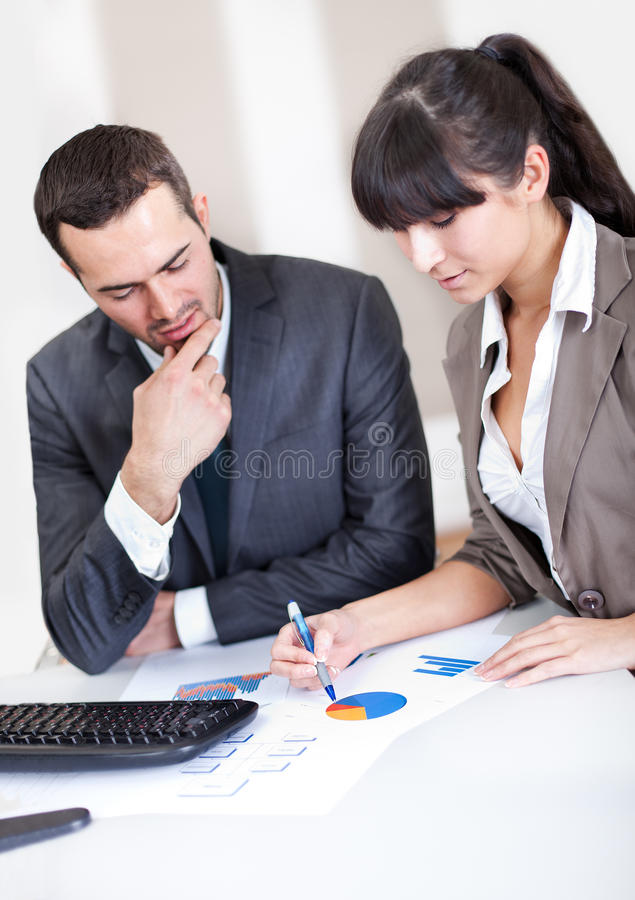 Business people in the office at the meeting royalty free stock photography