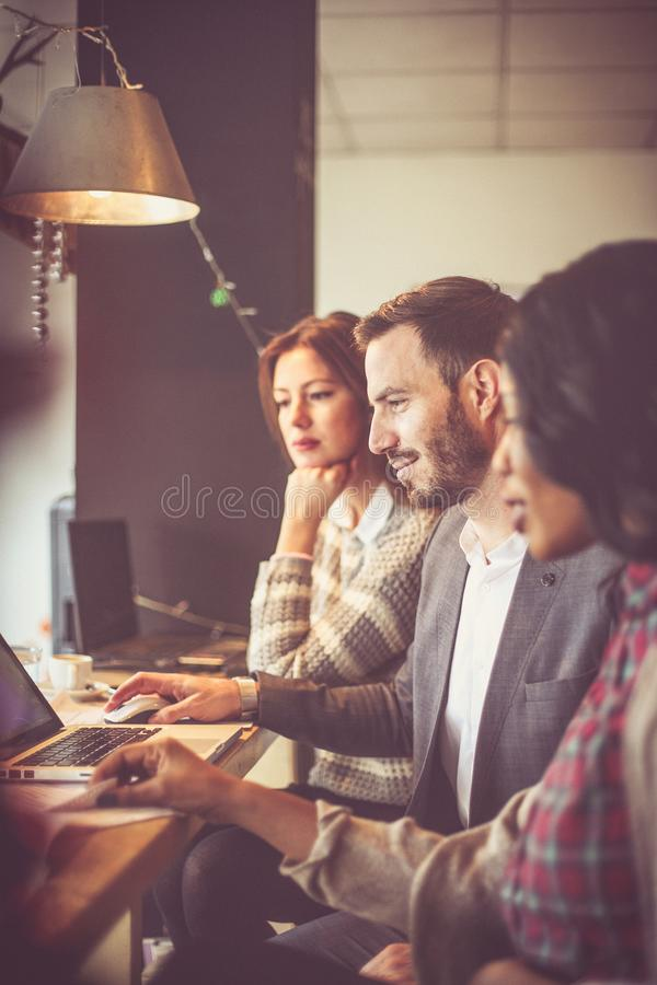 Business people. Office time. Close up image of tree business people royalty free stock photo