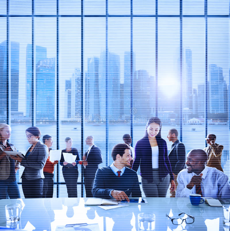 Business People Office Working Discussion Team Concept.  royalty free stock photography