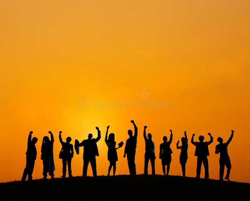 Business People Outdoors Meeting Team Teamwork Support Concept royalty free stock photos