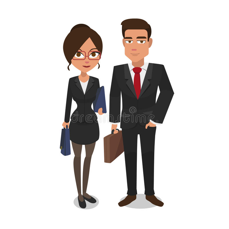 Business people pair royalty free stock photos