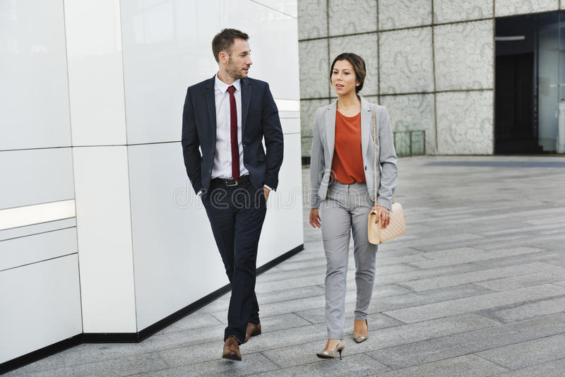 Business People Partner Walking Talking Concept royalty free stock photography
