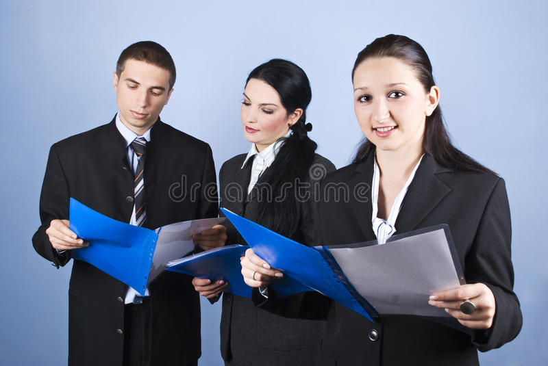 Download Business People Partners Reading Stock Photo - Image: 11732442