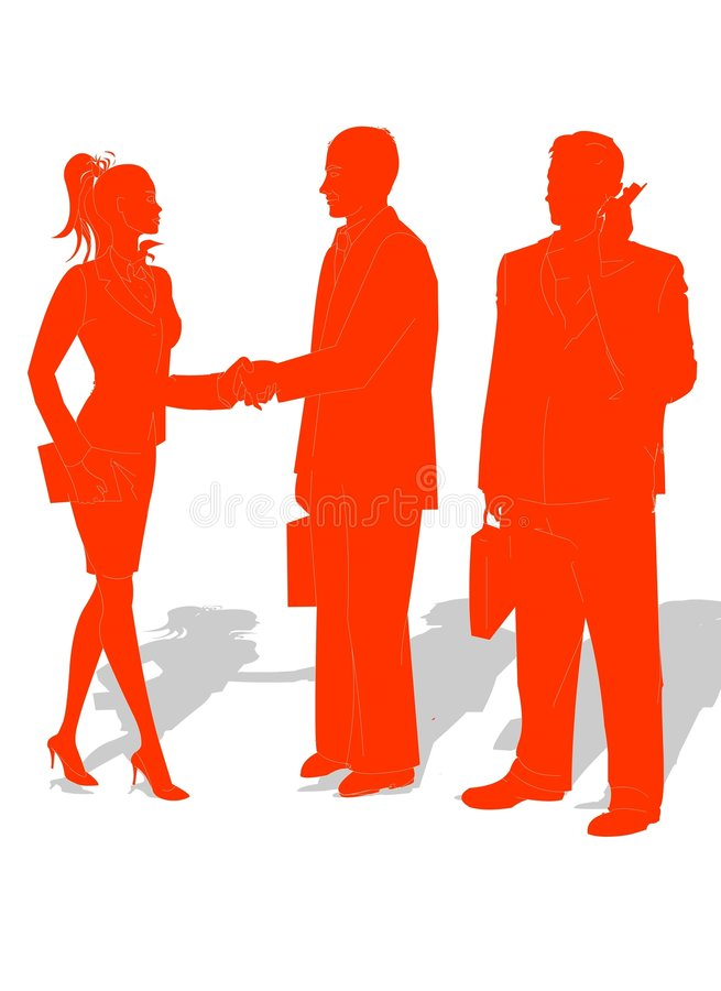 Business People Partnership stock illustration