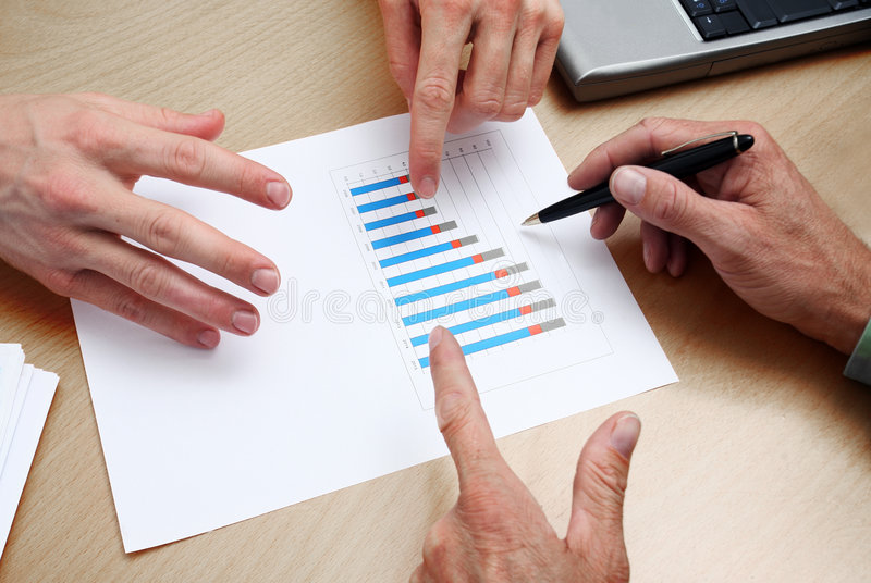 Business people planning royalty free stock images