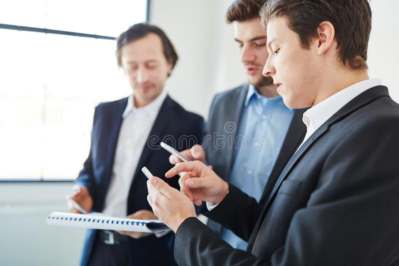 Business people planning as team stock image