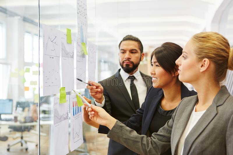 Business people planning business strategy. With notes at work royalty free stock photography