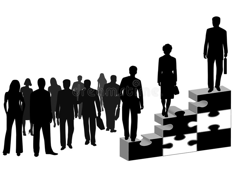 Download Business people and puzzle stock vector. Illustration of business - 7581932