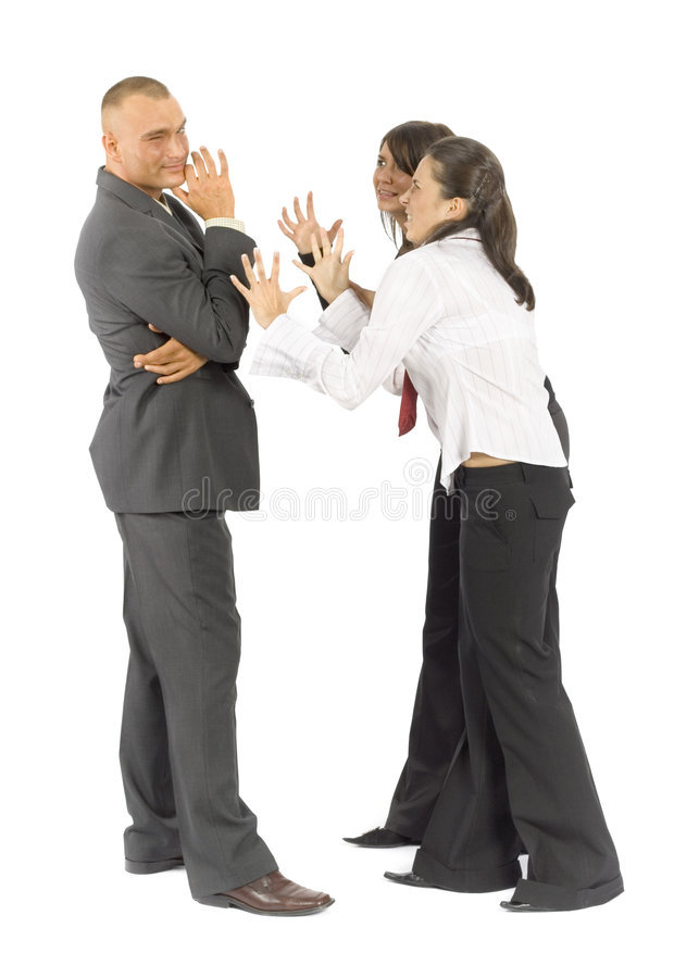 Business people quarrel stock photo
