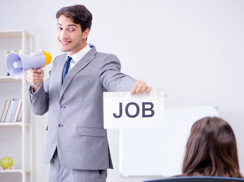 Business people in recruitment concept stock photography