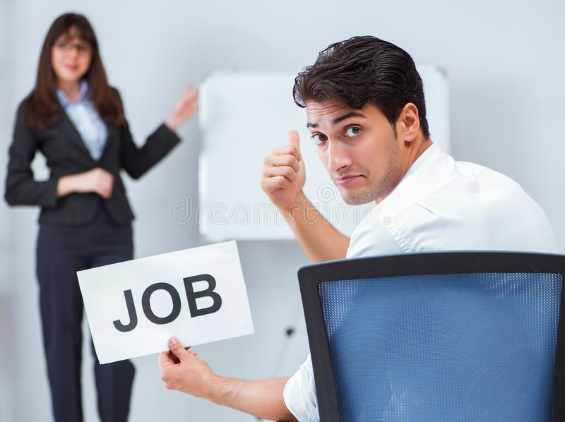 Business people in recruitment concept stock image