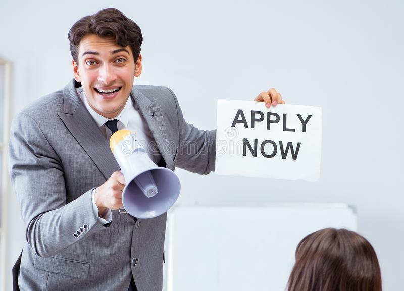 Business people in recruitment concept stock photo