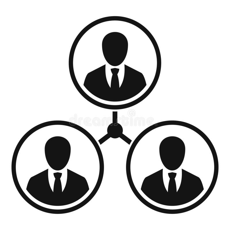 Business people relation icon, simple style vector illustration