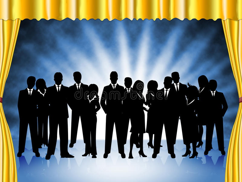 Business People Represents Professional Executive And Team stock illustration