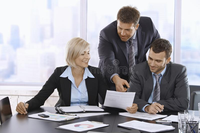 Download Business People Reviewing Documents Stock Photo - Image: 13608920