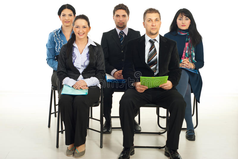 Download Business people at seminar stock image. Image of colleagues - 17999713