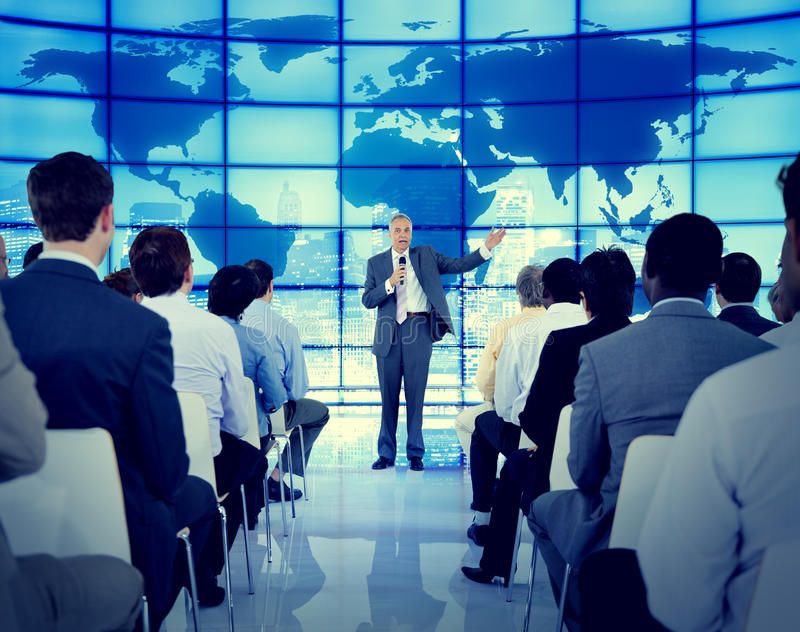 Business People Seminar Conference Meeting Office Concept royalty free stock photo