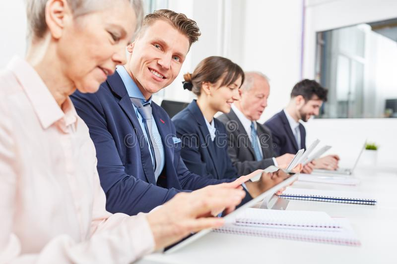 Business people in seminar royalty free stock image