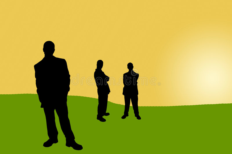 Business people shadows-15 royalty free illustration