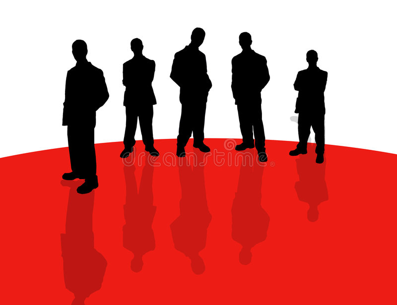 Business people shadows-2 vector illustration