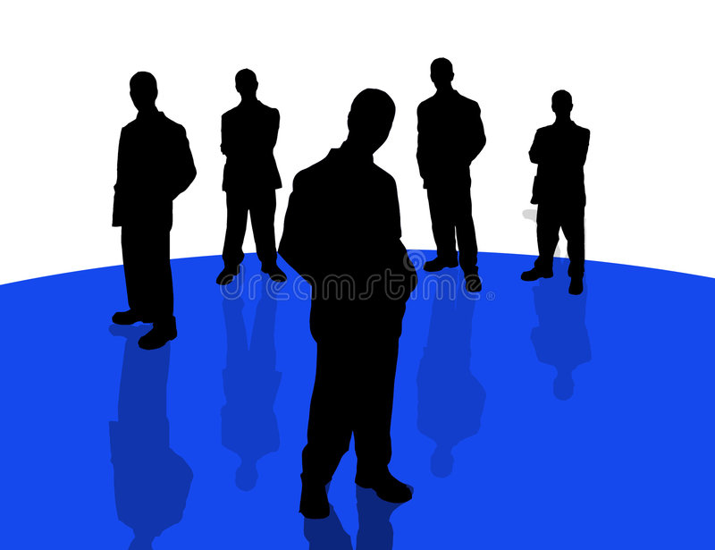 Business people shadows-4 royalty free illustration
