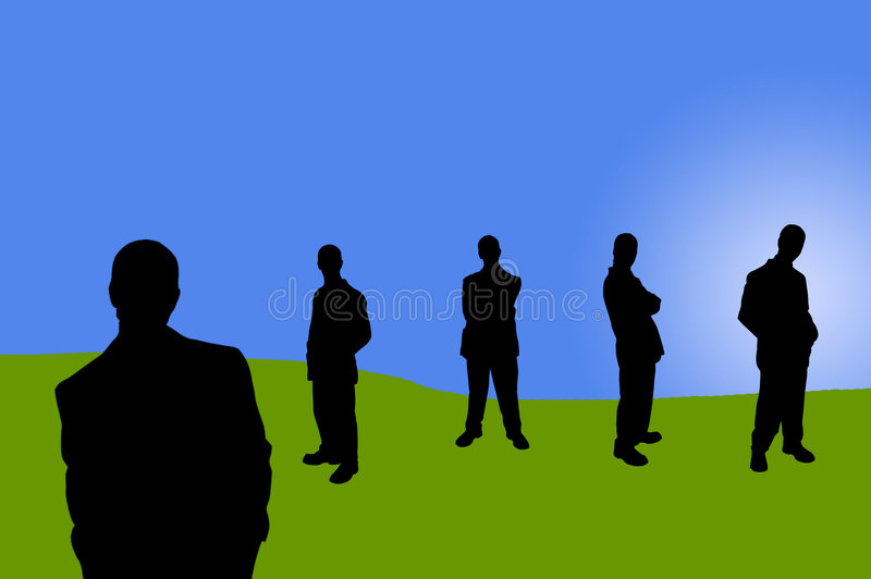 Business people shadows-8 stock illustration
