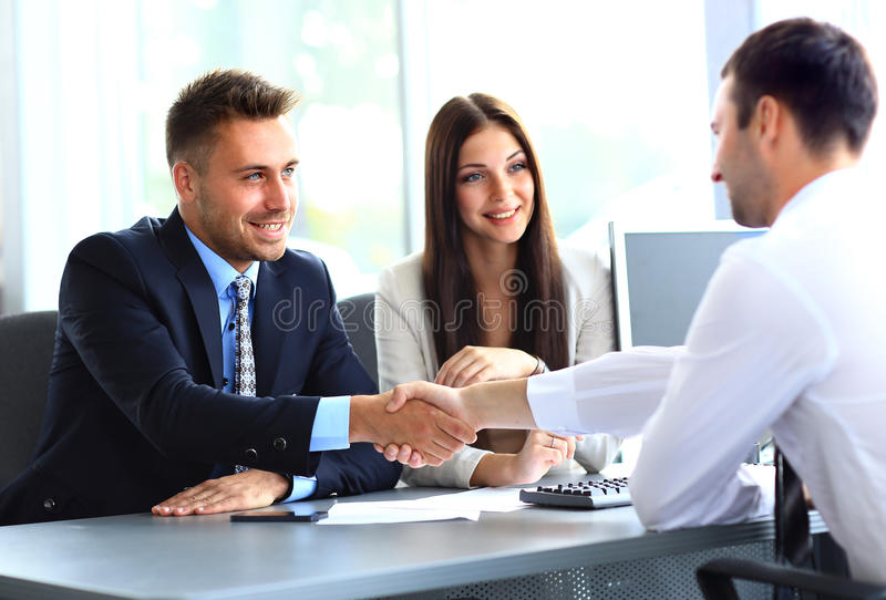 Business people shaking hand stock photography
