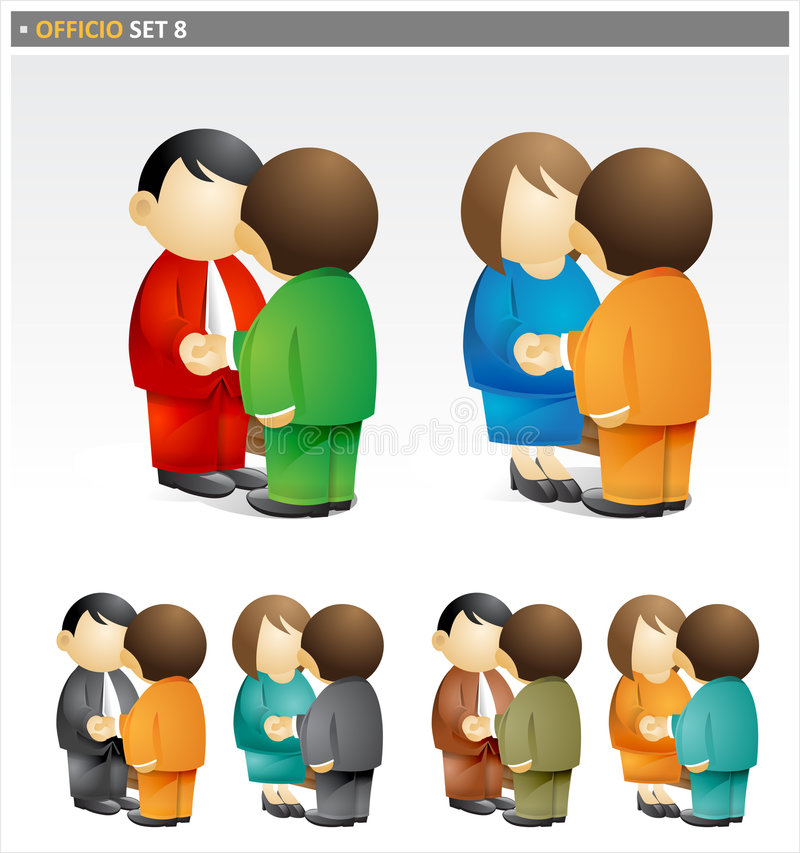 Business People Shaking Hands. A collection of images from the Officio Set including business men and women shaking hands vector illustration