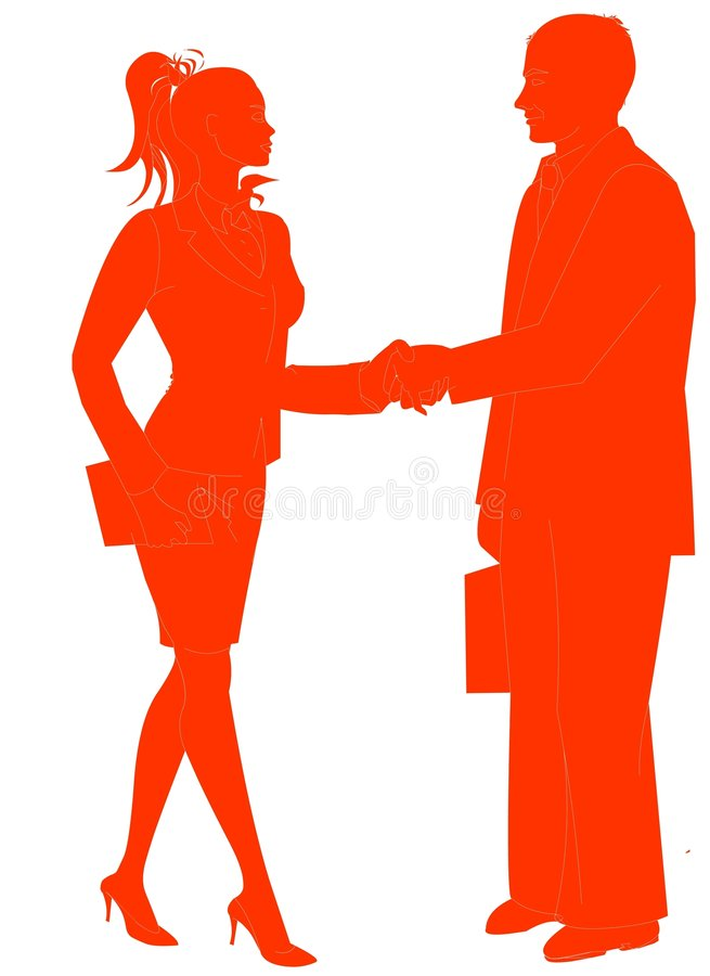 Download Business People Shaking Hands Stock Illustration - Image: 542284