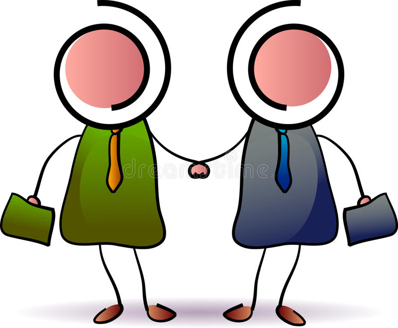 Business people shaking hands stock illustration