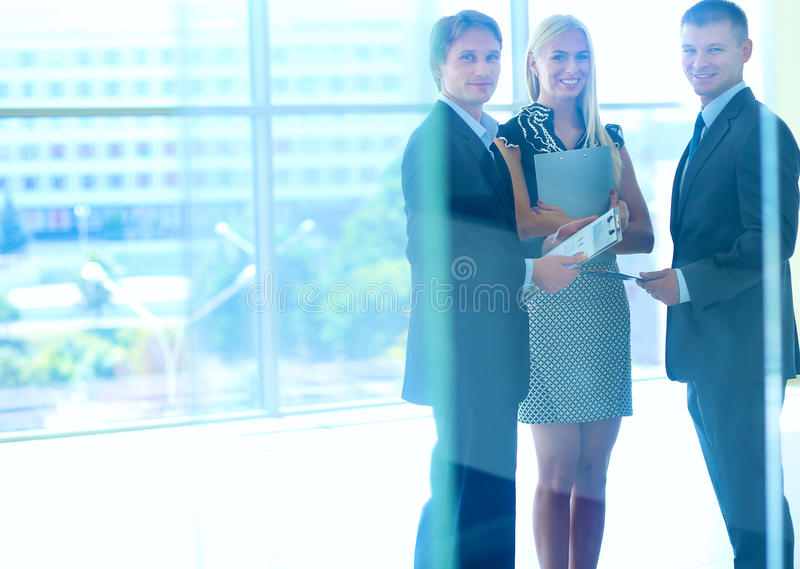 Business people shaking hands after meeting.  royalty free stock image