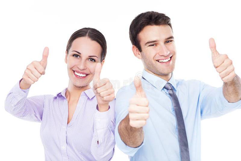 Business People Showing Thumbs Up Stock Image