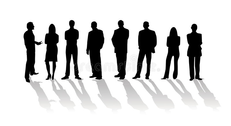 Business people silhouette stock photos
