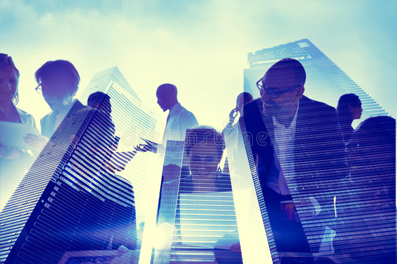 Download Business People Silhouette Transparent Building Concept Stock Photo - Image: 46613792