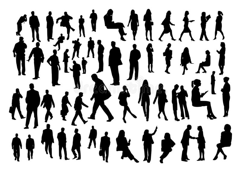 Business people silhouette vector royalty free illustration
