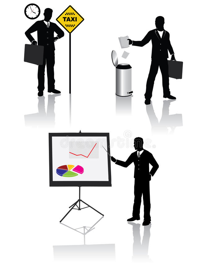 Download Business People Silhouettes Stock Vector - Illustration of diagram, chart: 10313474