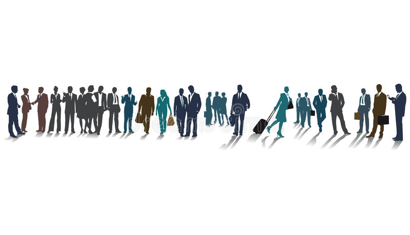 Business people silhouettes royalty free illustration
