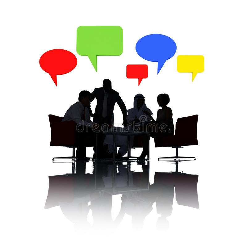 Business People in Small Business Meeting stock image