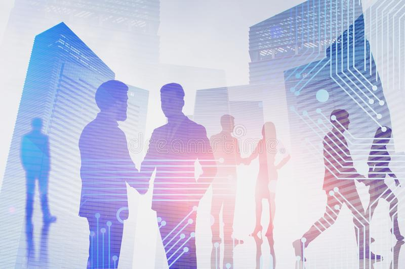 Business people in smart city royalty free stock images