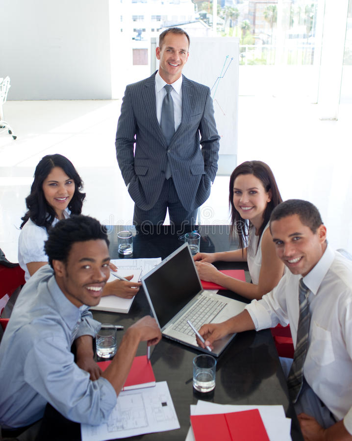 Download Business People Smiling In A Meeting Stock Image - Image: 11430611
