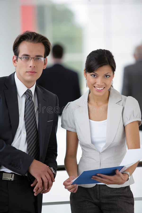Download Business People Standing In A Hall Stock Photo - Image: 10496090