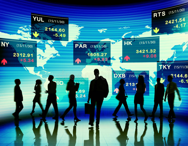 Business People Stock Exchange Market Trading Concept.  royalty free stock photography