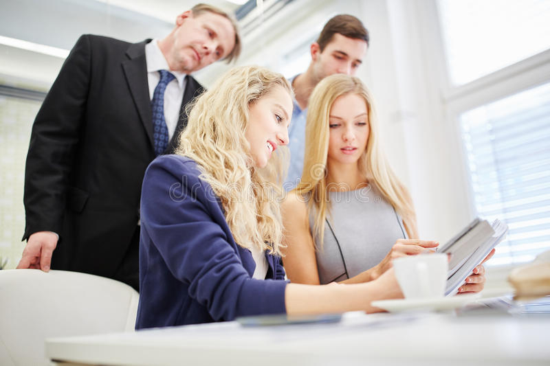 Business people at strategy planning. In team in the office stock image