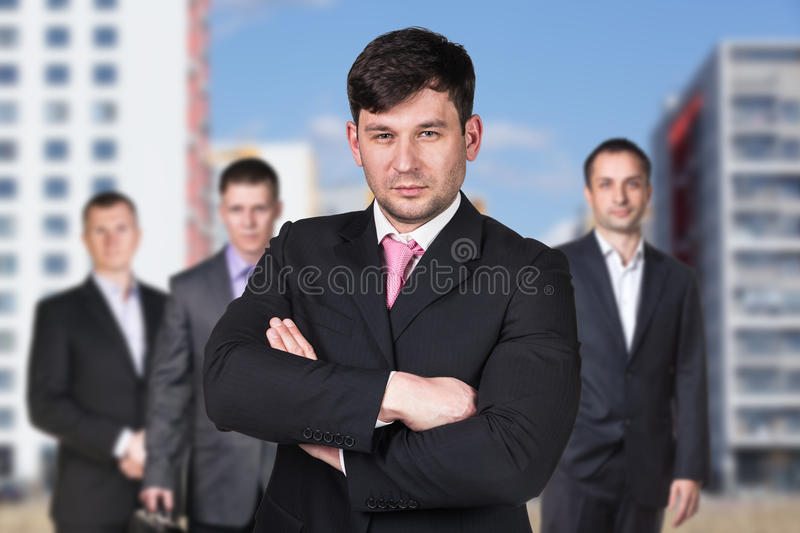 Business people on the street stock photo