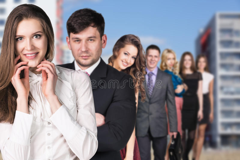 Business people on the street royalty free stock image