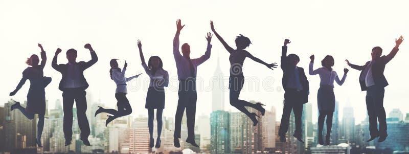 Business People Success Excitement Victory Achievement Concept.  stock image
