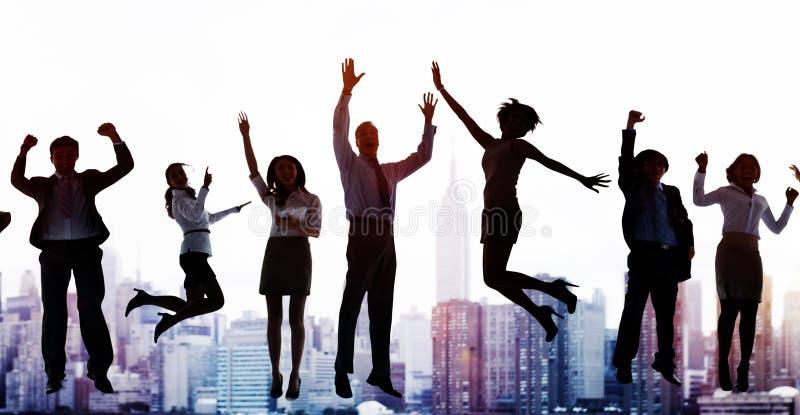 Business People Success Excitement Victory Achievement Concept stock photos