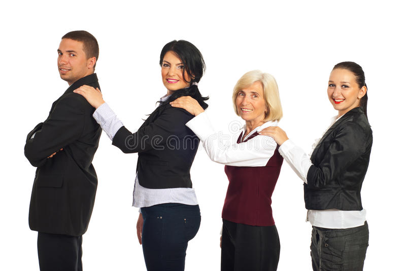 Business People Support Royalty Free Stock Photos