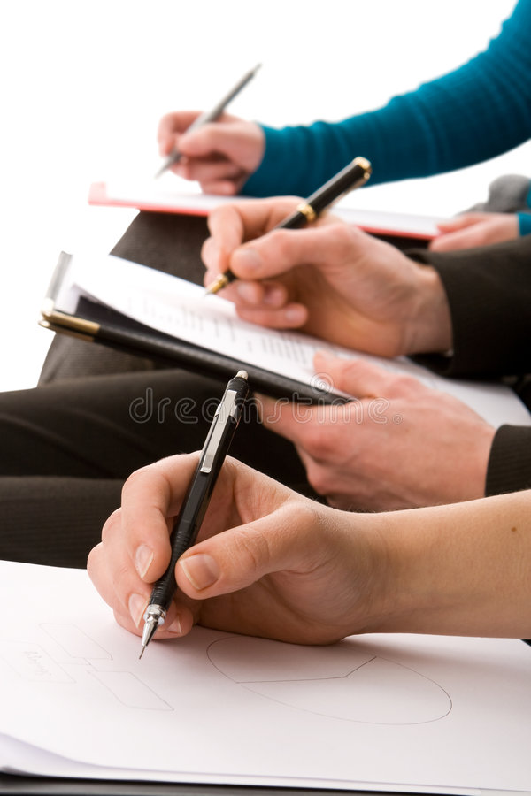 Free Business People Taking Notes Royalty Free Stock Photo - 7315915