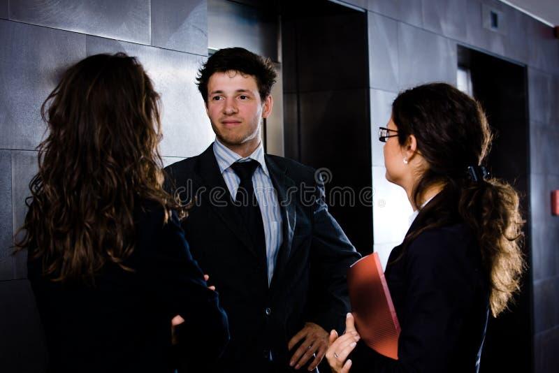 Download Business people talking stock image. Image of elevator - 6270045